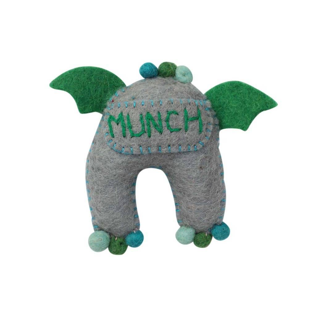 Handmade Felt Sea Tooth Monster