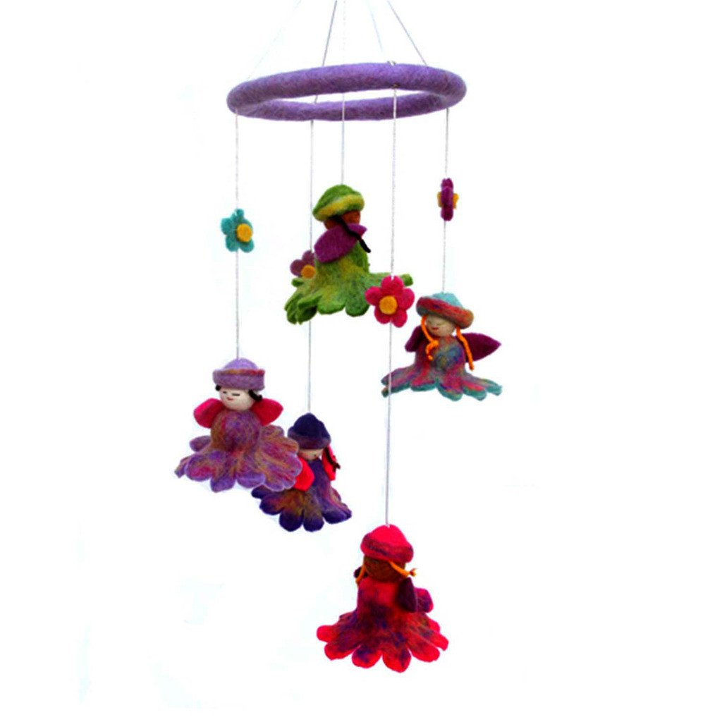 Handmade Felt Flower Fairy Mobile