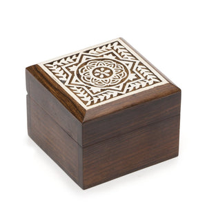 Carved Rosewood Aashiyana Wooden Box