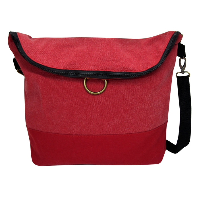 Convertible Red Canvas Bag
