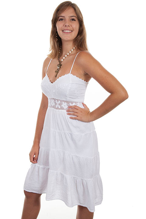 Boho White Cotton Dress