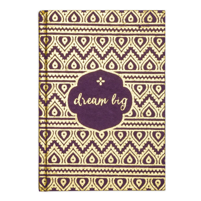 "Handmade ""Dream Big"" Metallic Message Journal"