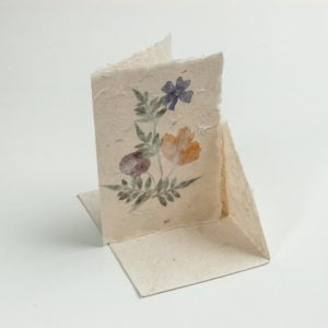 Handmade Paper Natural Flower Stationary