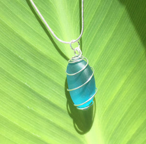 Caged Sea Glass Necklace