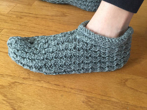 Cable Knitted Wool Slipper Socks