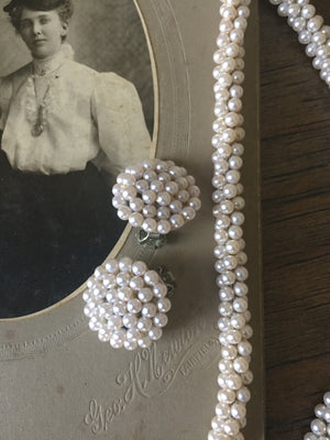 Vintage Pearl Clustered Jewelry Set