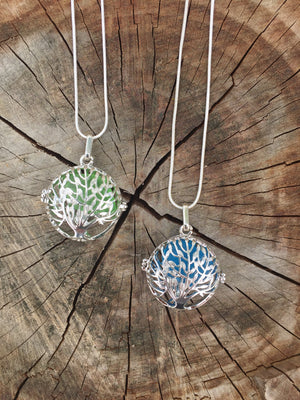 Tree of Life w/ Sea Glass Diffuser Locket