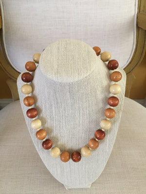 Wooden Bobble Necklace