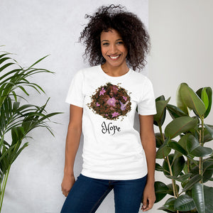 """Hope"" Breast Cancer Short-Sleeve Unisex T-Shirt"