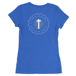 Trutogs emblem womens true royal t-shirt back