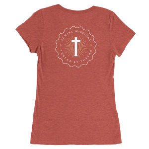 Trutogs emblem womens clay t-shirt back