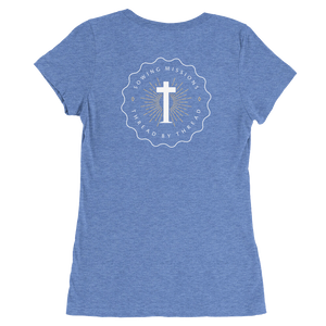 Trutogs emblem womens blue t-shirt back