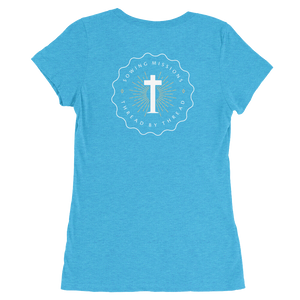Trutogs emblem womens aqua t-shirt back