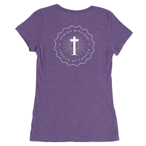 Trutogs emblem womens purple t-shirt back