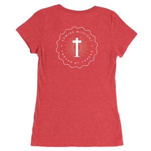 Trutogs emblem womens red t-shirt back