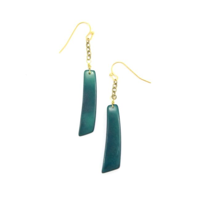 handmade fair trade tagua tazo earrings