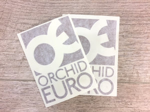 Orchid Euro Sticker Pack- Bronze