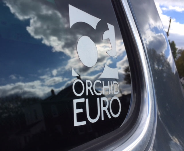 Orchid Euro Sticker Pack- White
