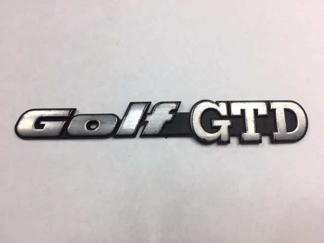Mk3 OEM Golf GTD Badge