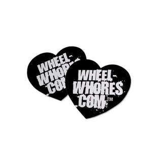 Wheel Whores Small Black Heart Sticker Pack