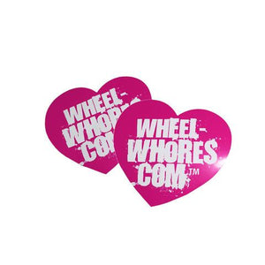 Wheel Whores Small Pink Heart Sticker Pack