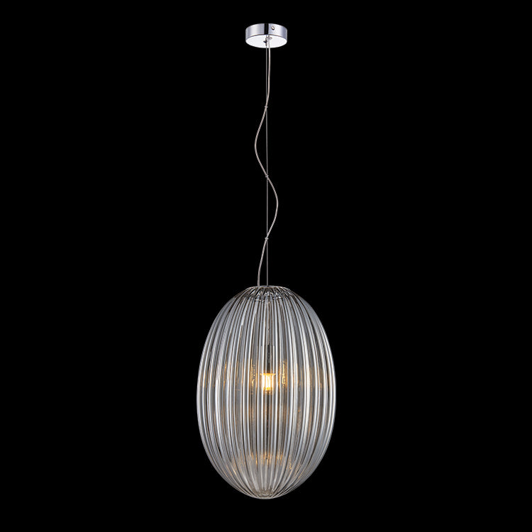 K. LIGHT - MARILYN SMOKE GLASS PENDANT 40W/60W (A-KLCH-900-L/SM, A-KLCH-900-S/SM)