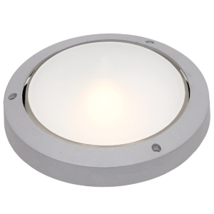 BH051 White Round Bulkhead Plain - Mi Lighting