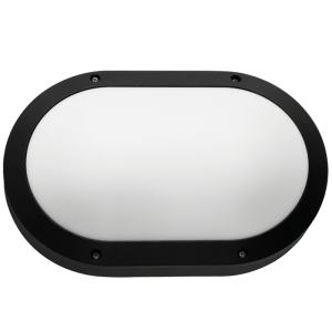 BH091 Black Oval Plain Bulkhead - Mi Lighting