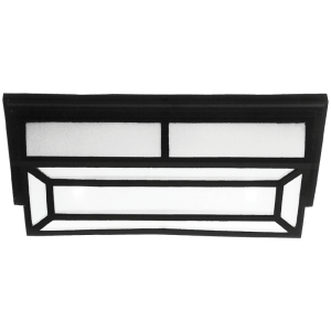 Load image into Gallery viewer, BH3080 Black Rectangle Grid Bulkhead - Mi Lighting