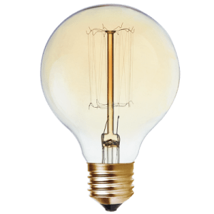BRIGHT STAR - AMBER CARBON FILAMENT BULB 2200K