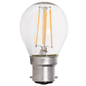 BRIGHT STAR - CLEAR FILAMENT GOLF BALL LED BULB 4W 2700K (BULB LED 155)