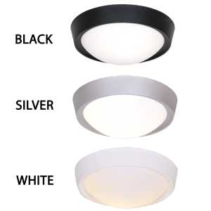 CF099 Black/Silver/White Poly Base Opal Cover Ceiling Fitting - Mi Lighting