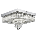 BRIGHT STAR - POLISHED CHROME GLASS CRYSTALS CEILING FITTING