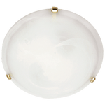 BRIGHT STAR - WHITE ALABASTER GLASS GOLD CLIPS CEILING FITTING 2X60W/3X60W (CF12005 WHITE)