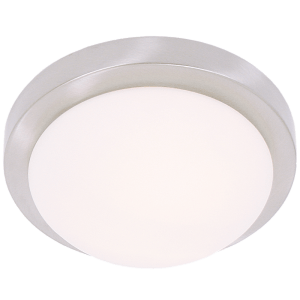 BRIGHT STAR - SATIN CHROME WHITE GLASS CEILING FITTING 40W/2X40W (CF1550 SATIN CHROME)