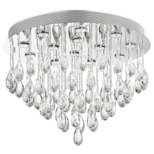 CF173/13 CRYSTAL Stainless Steel Crystal Drops Ceiling FItting - Mi Lighting