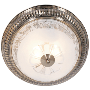 BRIGHT STAR - ANTIQUE BRASS CLEAR FROSTED GLASS CEILING FITTING 2X60W (CF221 ANTIQUE BRASS)