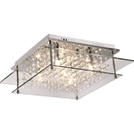 BRIGHT STAR - CHROME CLEAR GLASS CRYSTALS CEILING FITTING 5X40W (CF260/5 CHROME)