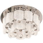 BRIGHT STAR - CHROME GLASS CRYSTALS CEILING FITTING 6X40W (CF286/6 CHROME)