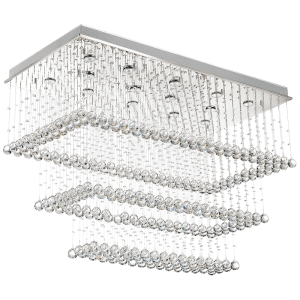 BRIGHT STAR - STAINLESS STEEL CRYSTAL CEILING FITTING 14X50W (CF311 CRYSTAL)