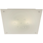 BRIGHT STAR - FROSTED GLASS CRYSTALS CEILING FITTING 40W/2X40W (CF322)