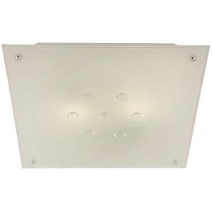 CF322 Frosted Glass Crystals Square Ceiling Fitting - Mi Lighting