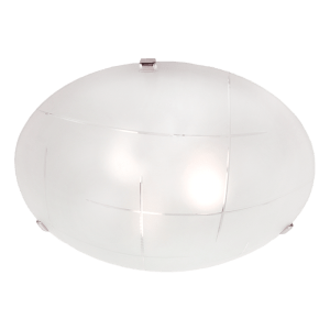 CF326 CHROME Frosted Glass Chrome Clips Ceiling Fitting - Mi Lighting