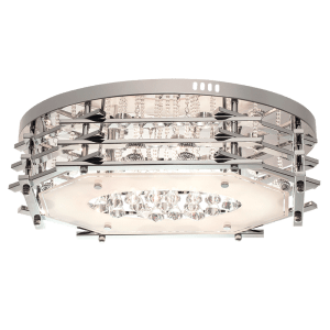BRIGHT STAR - CHROME GLASS CRYSTALS CEILING FITTING 21W (CF331 LED)