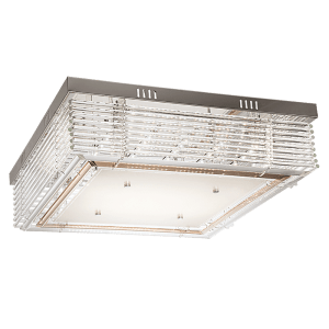 BRIGHT STAR - CHROME GLASS CRYSTALS CEILING FITTING 48W (CF333 LED)