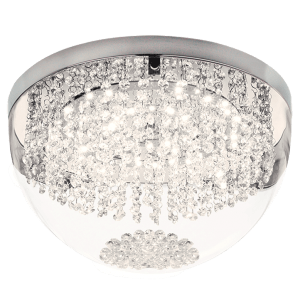 BRIGHT STAR - CHROME GLASS CRYSTAL CEILING FITTING 21W 4000K (CF382 LED)