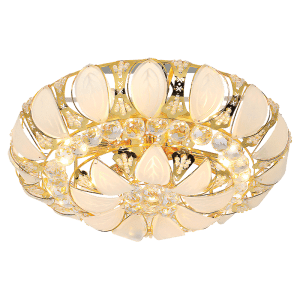 BRIGHT STAR - CRYSTAL GLASS GOLD CEILING FITTING 7X60W (CF479/7 GOLD)