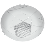 BRIGHT STAR - PATTERNED WHITE GLASS CRYSTAL CEILING FITTING 18W 4000K (CF522 LED)