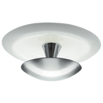 BRIGHT STAR - STAINLESS STEEL WHITE GLASS CEILING FITTING 12W 4000K (CF524 LED)