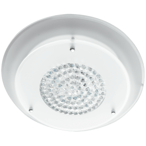 BRIGHT STAR - CHROME WHITE GLASS CRYSTALS CEILING FITTING 12W/15W 2700K (CF543 LED)